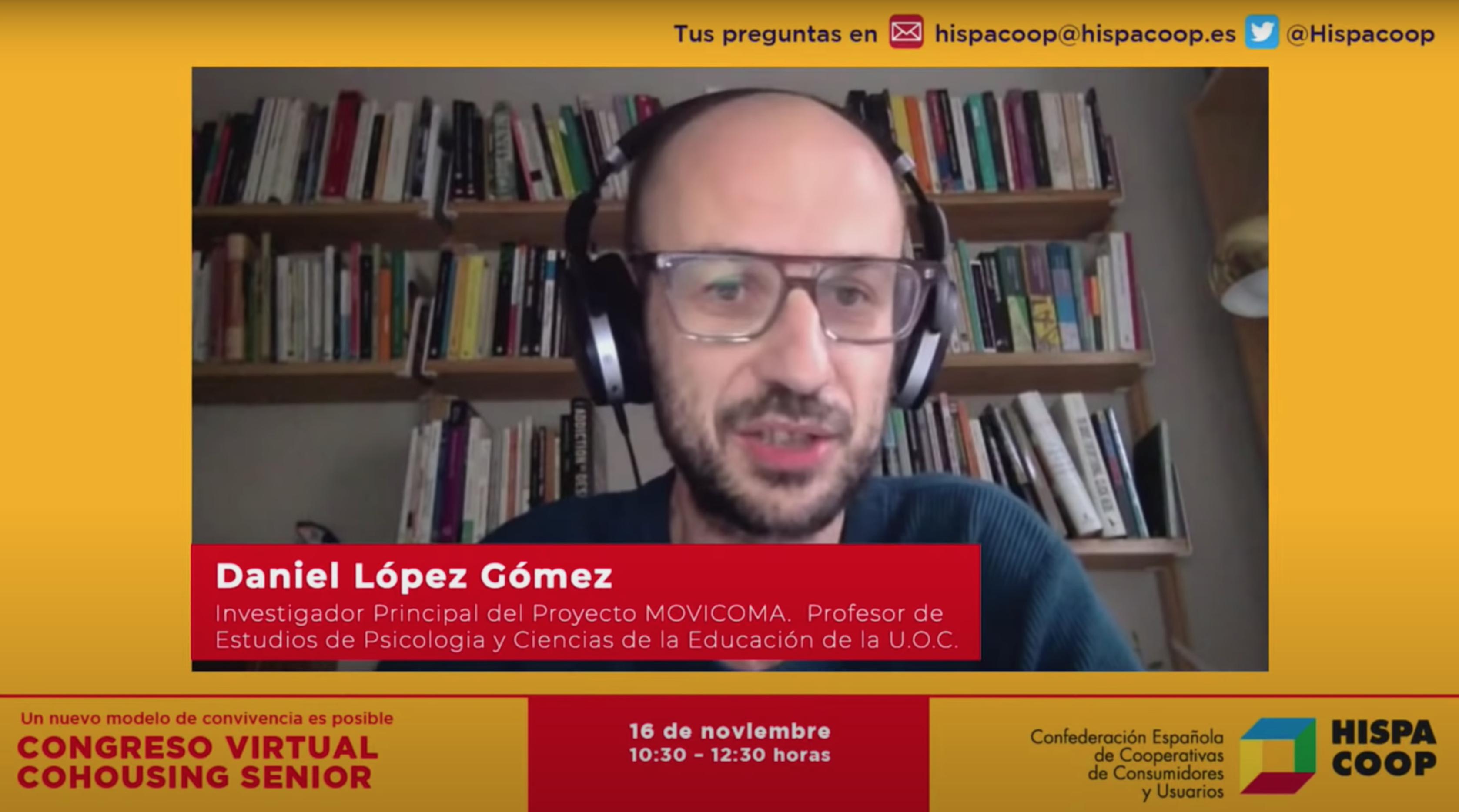El Congreso Virtual Cohousing Senior abre con una ponencia inaugural de Daniel López sobre su desarrollo en España y una comparativa con los países nórdicos